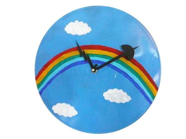 ceas de perete rainbow clock