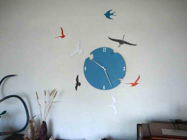 ceas de perete cu pasari decor