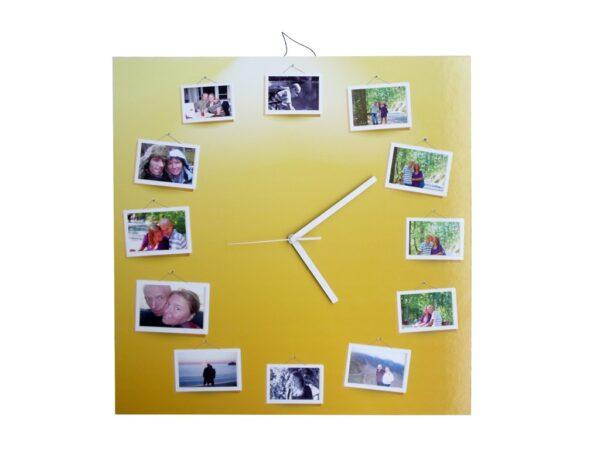 ceas cu poze fundal galben