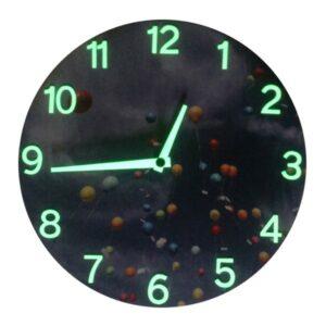 Baloane, ceas perete fosforescent