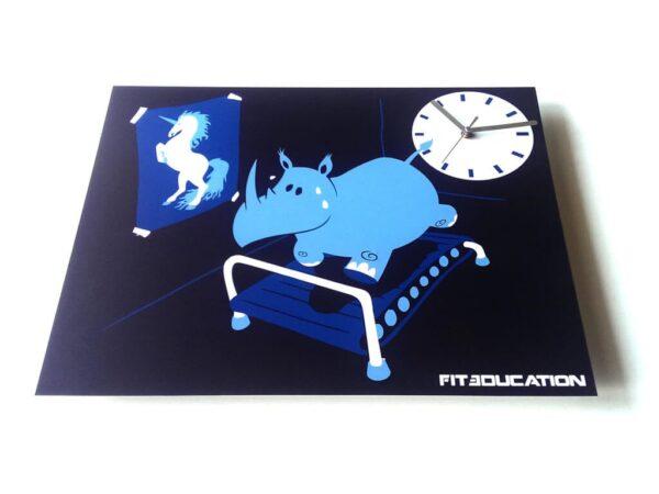 Ceas de perete hipopotam-inorog
