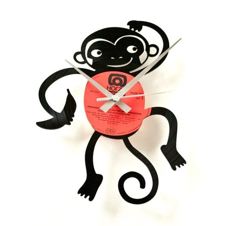 Maimutica ceas perete vinil