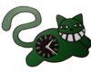 Ceas de perete pisica verde