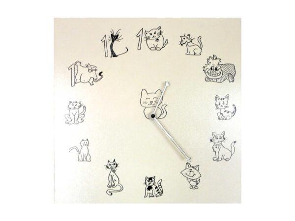 ceas pisicos patrat