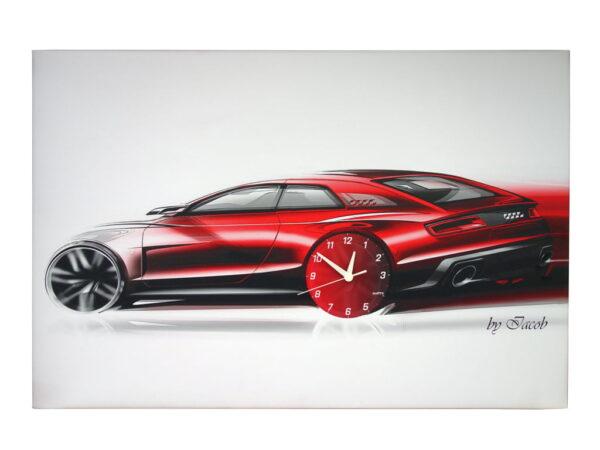 Audi ceas de perete tablou canvas