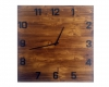 ceas din lemn cifre negre