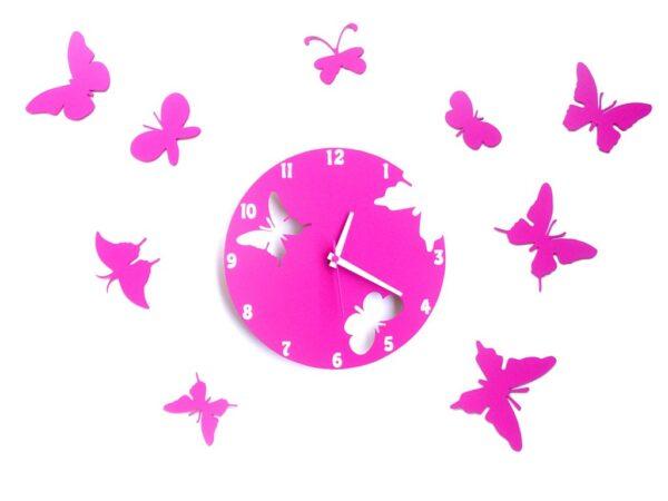 ceas fluturi fuchsia
