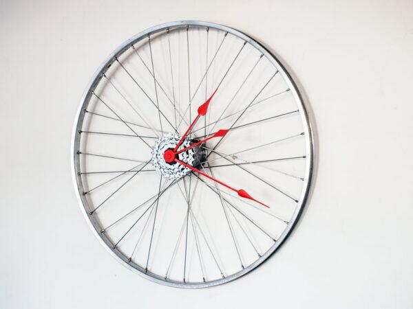ceas perete bicicleta limbi rosii