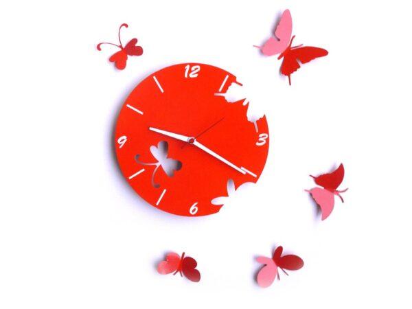 ceas portocaliu fluturi model nou