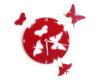 ceas rosu cu fluturi