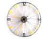 bicicleta ceas cifre galben cu negru