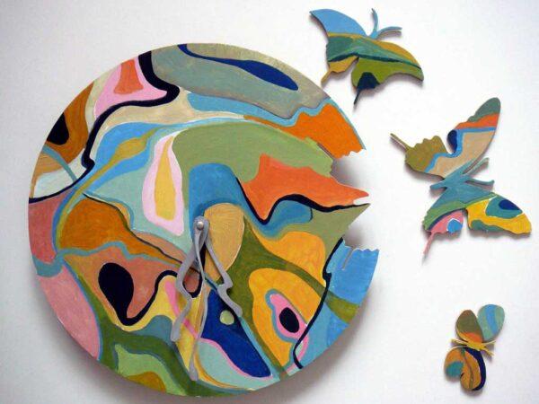 fluturi multicolori pictati