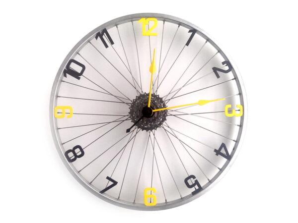 bicicleta ceas cifre negru cu galben