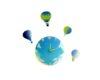 Ceas perete baloane