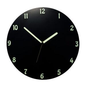 Un ceas negru rotund ziua