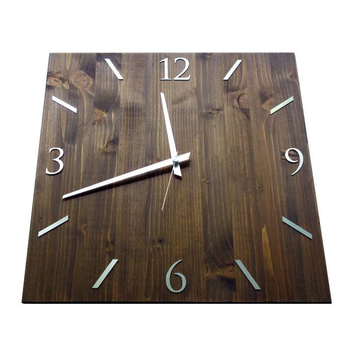 Ceas invers din lemn cu aluminiu