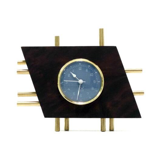 Art Deco ceas de masă albastru orizontal