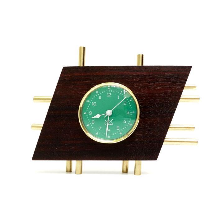 Ceas de masă verde Art Deco orizontal