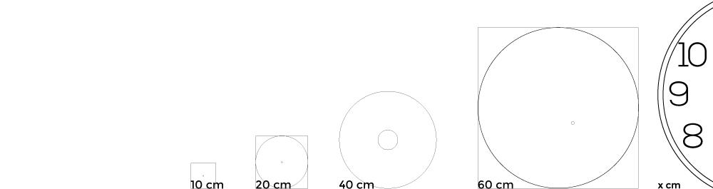 dimensiuni  ceas perete
