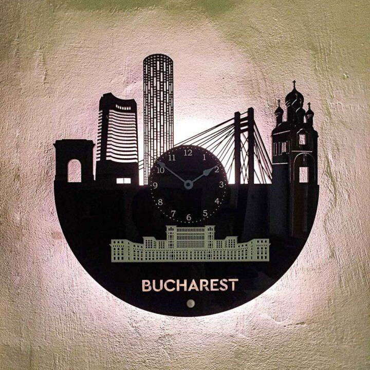 Ceas perete București cu led-uri